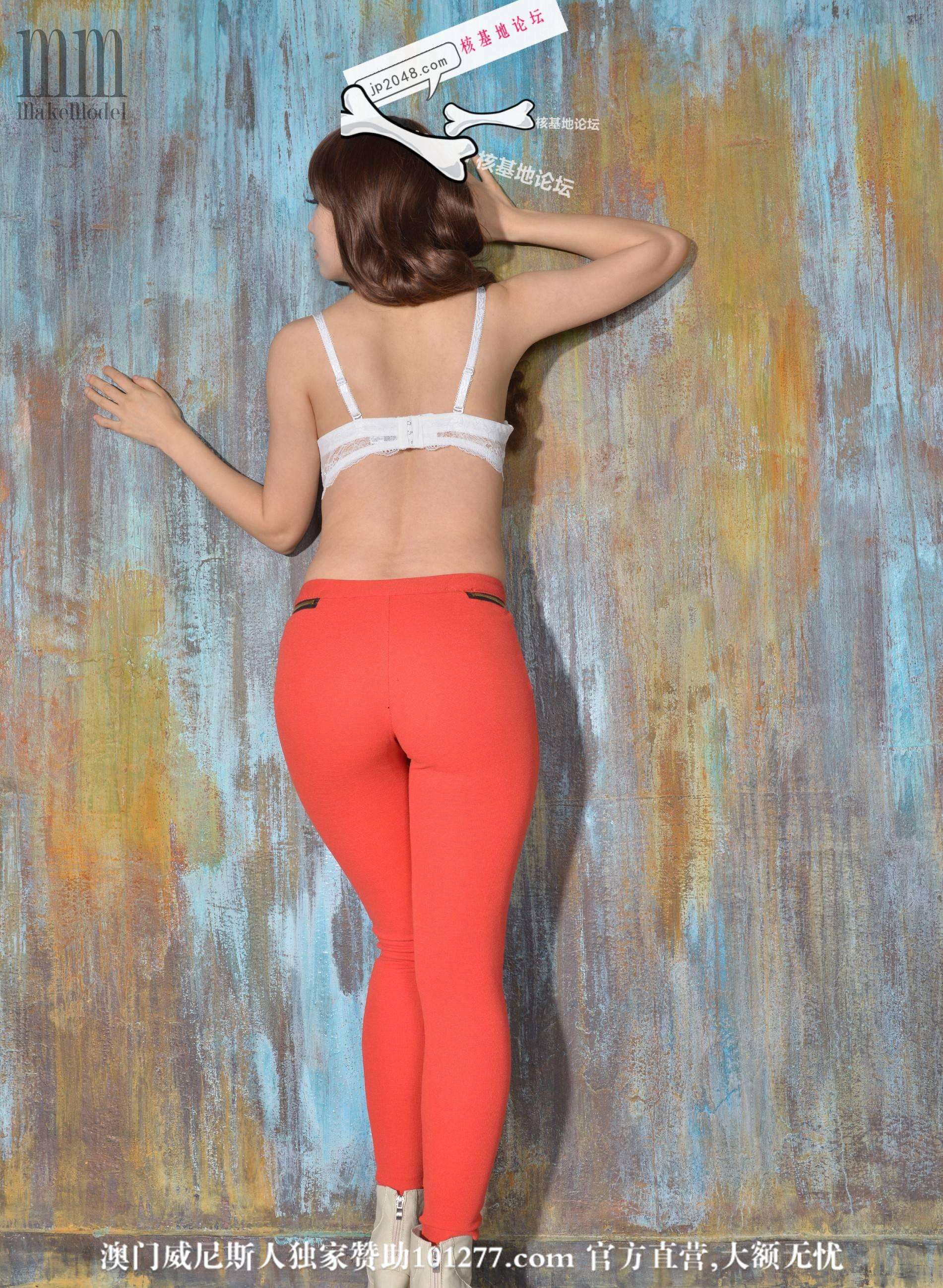 橘色长裤模特03【13p】